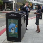Solar Trash Cans Debut in Long Beach, California