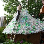 Recycling Plastic Bottles And Trash Into Roofs