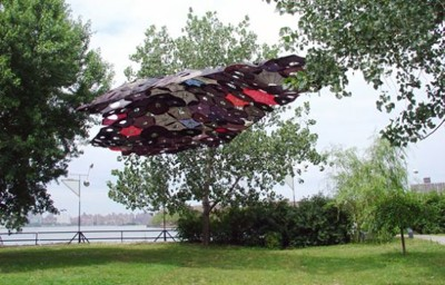 ... the large canopy by Jean Shin made from broken umbrellas that were collected from the street and deconstructed reassembled and re-introduced & 35 Ways To Reuse and Recycle Umbrellas