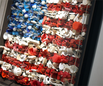 Recycled patriotic display for Recycled materials for decoration
