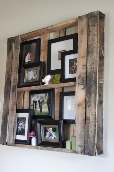 Another Pallet Wood Shelf Look The Possibilities Are Endless Sorry No Image Credit
