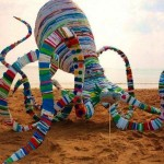 20,000 Plastic Bags For Octopus Sculpture