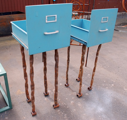 23 ways to reuse file cabinets Upcycled metal filing cabinet