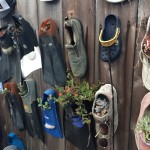 shoe fence- close up