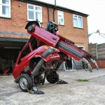 Artist Hetain Patel Turns an Old Ford Fiesta into a Transformer Robot