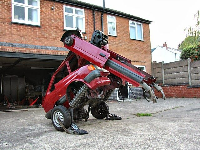 rtist Hetain Patel Turns an Old Ford Fiesta into a Transformer Robot