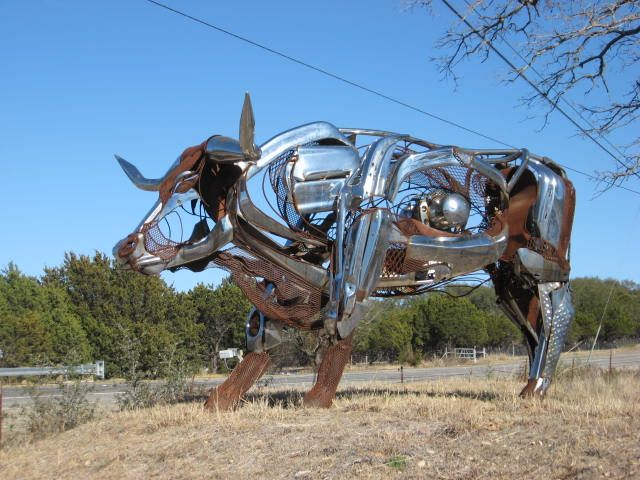 Johnson City Texas - Recycled Car Art