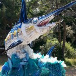 9 Ft Marlin Sculpture Is Made From Beach Trash