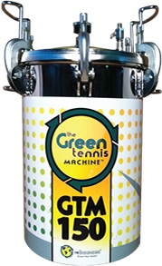 Green Machine, adding life and bounce to tennis balls.