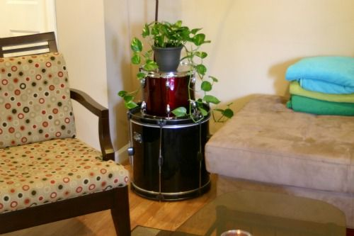 Reuse Drum Side Table 2