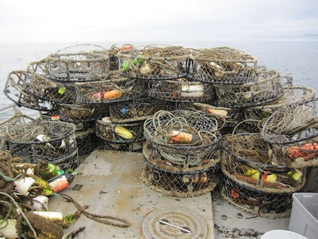 Derelict fishing gear removed from Washington state waters. (photo credit: Natural Resources Consultants) (PRNewsFoto/Fishing for Energy)